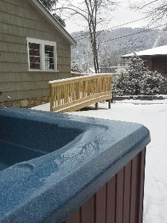Your view from the hot tub.