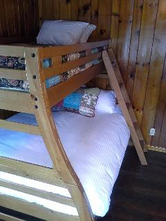 Bunk room bedding with Aller Ease pillows and  100% cotton percale sheets
