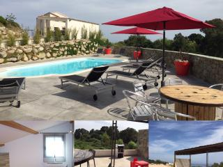 Villa de luxe mitoyenne T4 piscine, climatise wifi