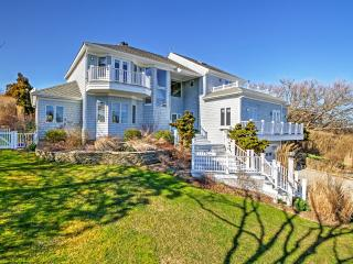 New Listing! Immaculate 6BR Montauk House w/Wifi, Private Outdoor Pool, Stunning Fireplace & Marvelous Ocean Views! Unbeatable Location - Near All Hamptons Attractions! Walk to the Beach!