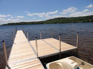 Clean fresh water - great views! Nice deck over the water!