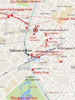 4 super markets in 5 mins walk