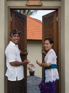 Villa staff, KUSUMA and DEWI, will stand by for your pleasant stay.