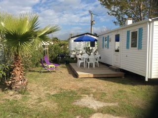 mobilhome 6 places climatisé dans camping 3*, Argeles-sur-Mer
