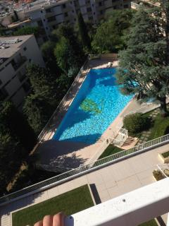 Shared swimming pool and other recreational areas: table tennis and barbecue (not apartment view)