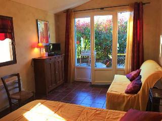 Chambre Safran , avec terrasse privative, Gras