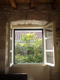 Blick aus dem Fenster - Doppelzimmer im 1. OG