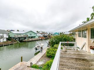 Classic Key Allegro Canal House with Private Dock, Rockport