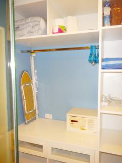 walk in wardrobe with safe