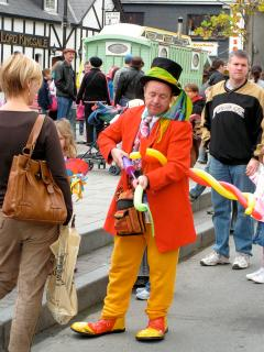 At the many street festivals are numerous entertainers