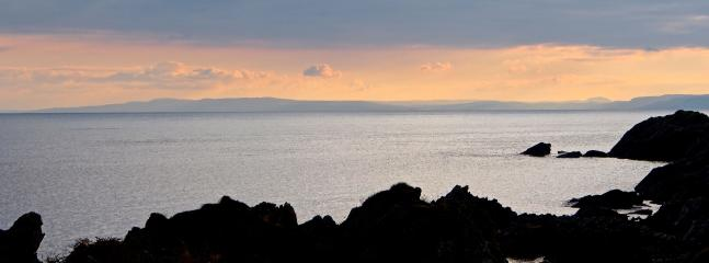Northern Ireland on the horizon as seen from Shore Cottage.