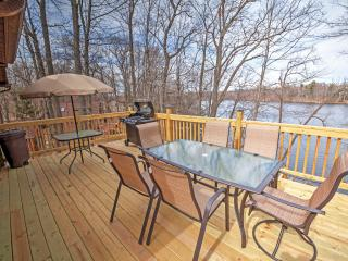 New Listing! 'Red Cedar Lake Narrows Hideaway' Recently Renovated 3BR Rice Lake House w/Outdoor Fire Pit, Large Private Deck & Stunning Water Views - Easy Access to Countless Outdoor Activities!