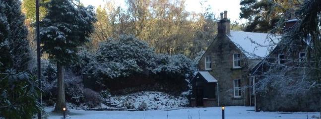 Wintry scene at Highland Coach House co UK