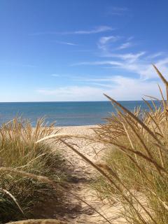 Saugatuck dunes path to beach