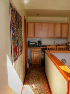 hallway and kitchenette