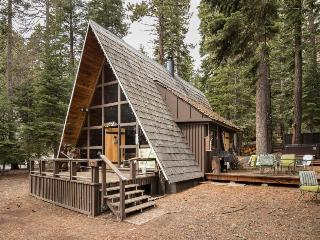 Charming A-frame with a hot tub, 2 decks & a great location!
