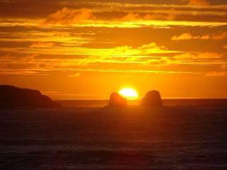 Puesta de sol desde punta de lobos