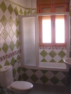 Baño habitación verde