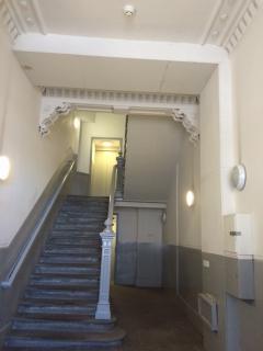 Beautiful entrance hallway in building.