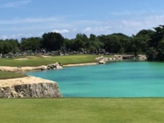 Not only is the beach beautiful but so is the course!  Long par 3....