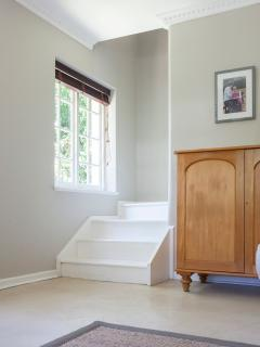 Steps going up to bedrooms
