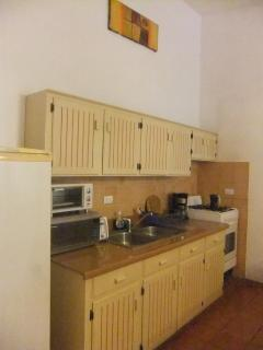 Equipped kitchen with storage