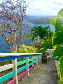 Your private stairway to your villa & terrace from the 'Great Deck' above.