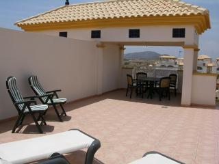Penthouse apartment, private roof terrace, sea views, balcony, pool