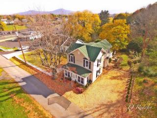 Aerial View of Garfield Guest House with Shenandoah Nation Park in background