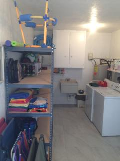 Laundry Room, All Amenities  Tennis Rackets, Pool Chairs/Umbrella & Beach Toys, etc