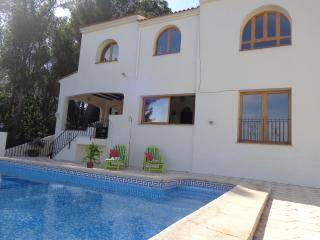 back view of villa from pool
