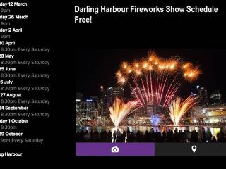 Darling Harbour fireworks schedule
