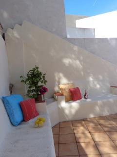 the villa is surrounded by relaxing private terrace areas on various levels