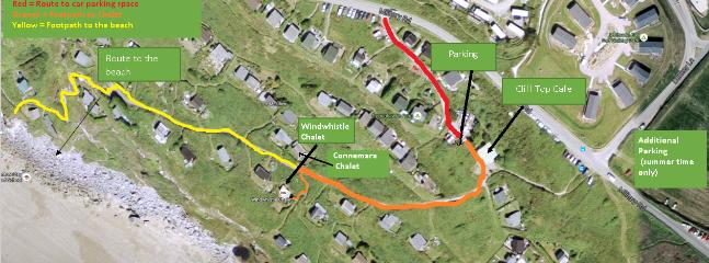 Location of Windwhistle -aerial view.