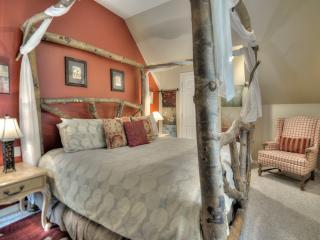 king size Aspen log bed