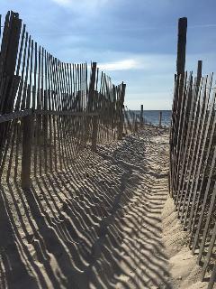 Beach entrance, 620 feet from the house