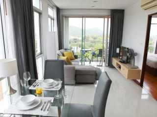 spacious and comfortable living and dining area.