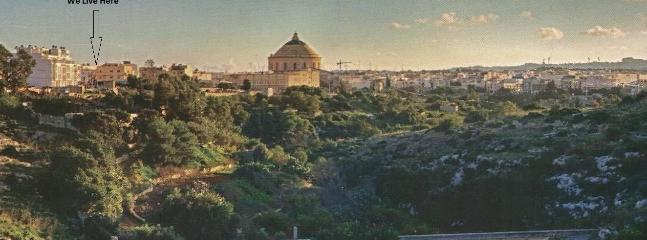 The beautiful Valley of Mosta.   Our property is only 100 meters away form the bridge.