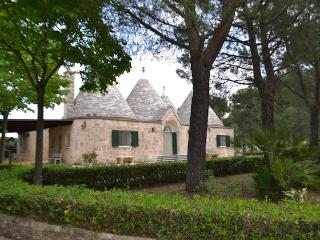 Beautiful complex of Trulli in Valle d'Itria, Martina Franca