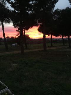 Un momento magico al tramonto
