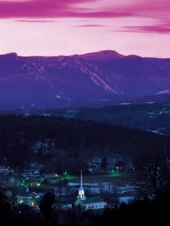 Sunset in Stowe Vermont