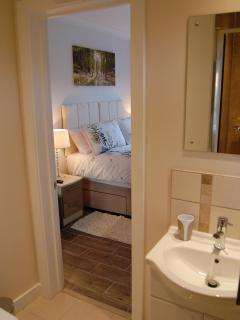 View from en-suite to bedroom.