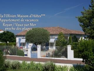 VILLA L'OLIVIER - Appartement de charme***, Vaux-sur-Mer