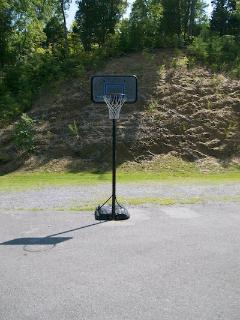 There's plenty of room to play basketball or put up a volleyball net. We also have a fire pit