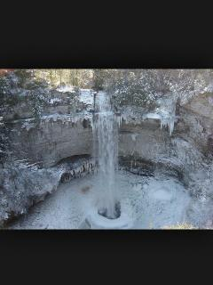 Fall creek falls in winter