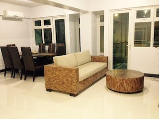The Dining and Living Room fully air conditioned with veranda