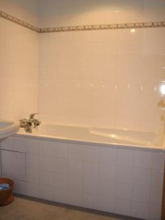 The Large Bath Tub in the Master Bathroom.