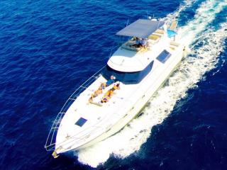 An 18 m long yacht, designed with 3 luxurious cabi