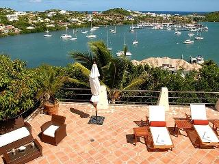 LA BRISE...Nestled Atop a Mountain This  St Martin Villa Overlooks Oyster Pond and Dawn Beach