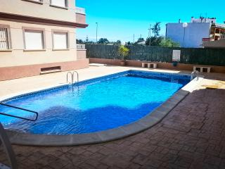 Alicante province, rural village apartment in gated complex wheelchair access.